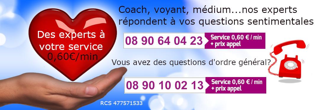 Des experts à votre service. Coachs, Voyants, Médiums…pour seulement 0,60€/minute