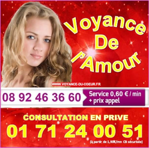 VoyanceduCoeur, spécialiste de la voyance de l'Amour au 08.92.46.36.60 (0,60€/mn)