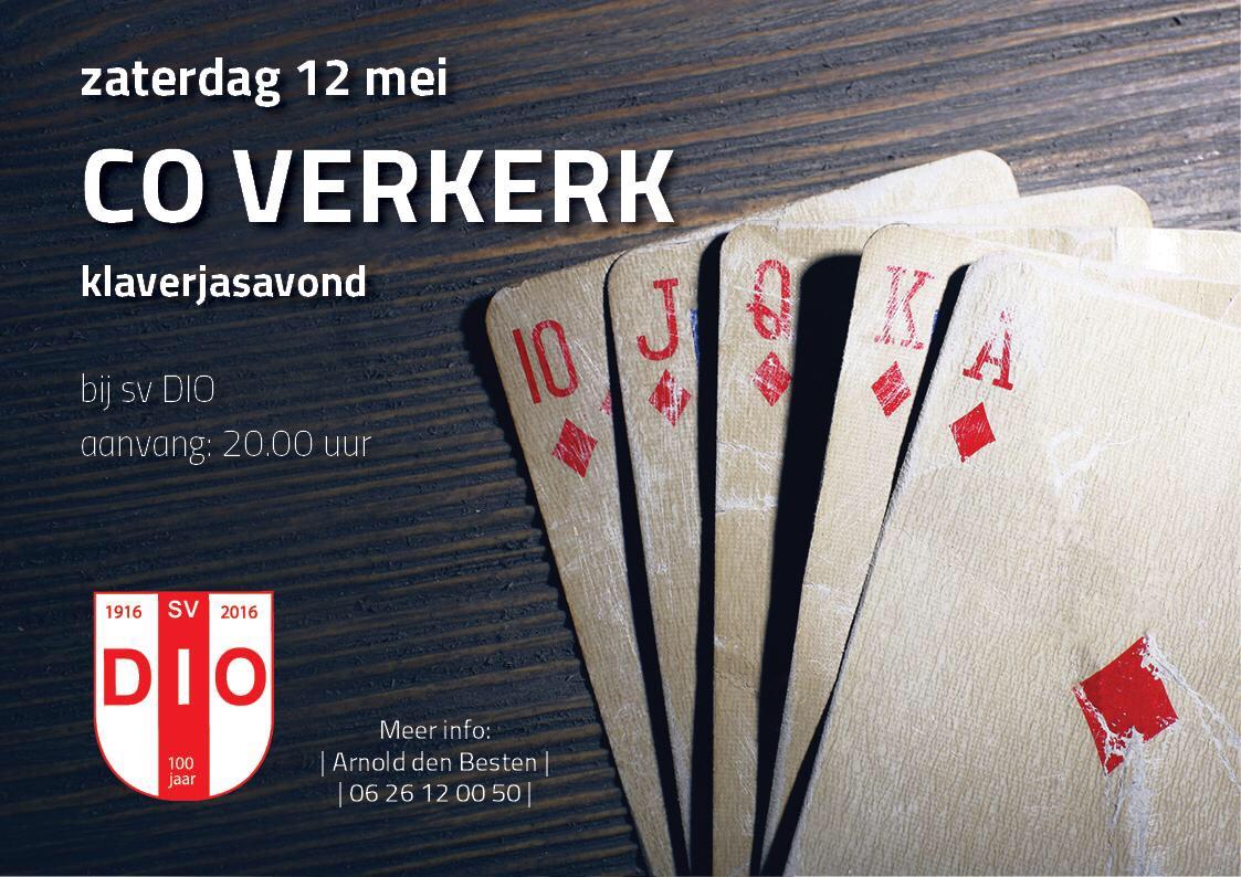 Co Verkerk klaverjasavond