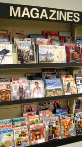 The magazine rack at St. Vincent de Paul's Fond du Lac.