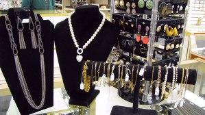 Women's jewelry including necklaces, earrings and bracelets for sale at St. Vincent de Paul's Fond du Lac.