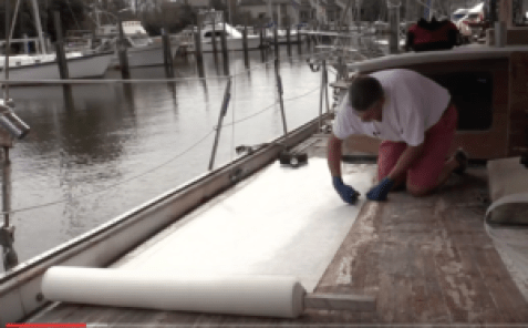 Cutting Fiberglass matt sheets to size