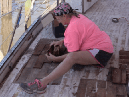 Removing the marked peices from the deck