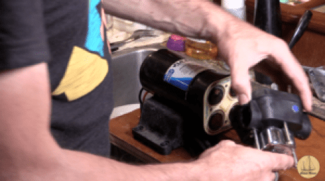 Removing the pump assembly from the motor