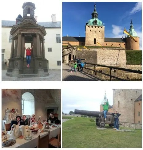 Visita a Kalmar slott - Svea y Pablo