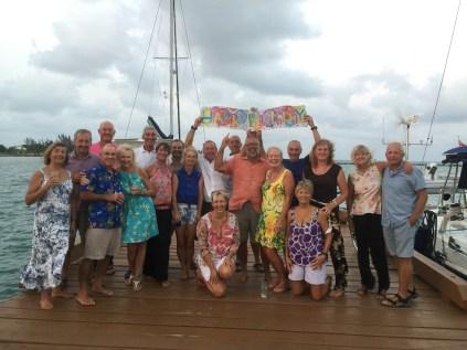 Celebration on the dock