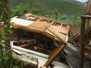 Distruction in St. John