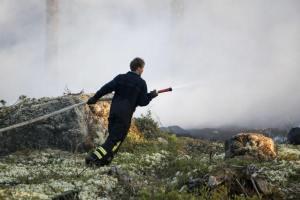 Skogsbrand härjade mellan Linsell och Glissjöberg