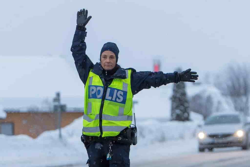 Poliskontroll. Foto: Morgan Grip