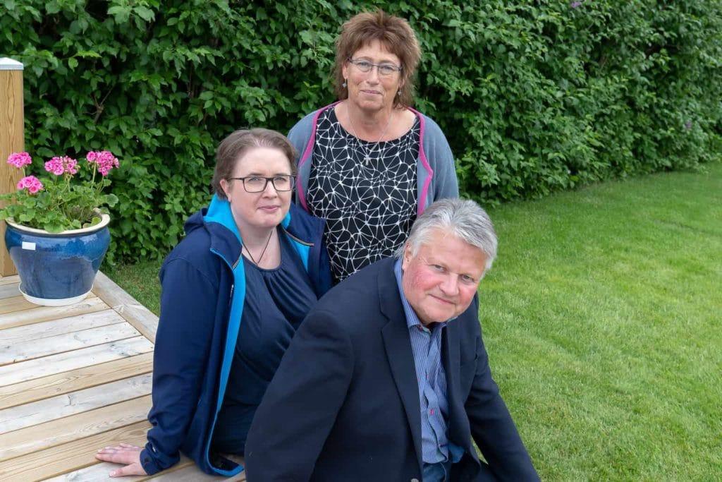 Liberalernas toppnamn inför höstens val Eva-Britt Boij, Maria Nordkvist och Bengt-Arne Baben Persson meddelade på måndagen att man lämnar samarbetet med allianskollegorna. Foto: Morgan Grip