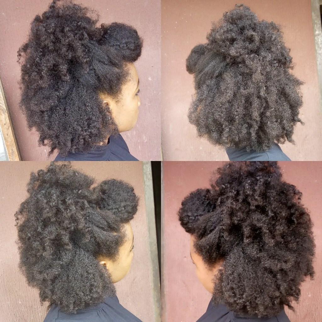 half-up half-down natural hair styles
