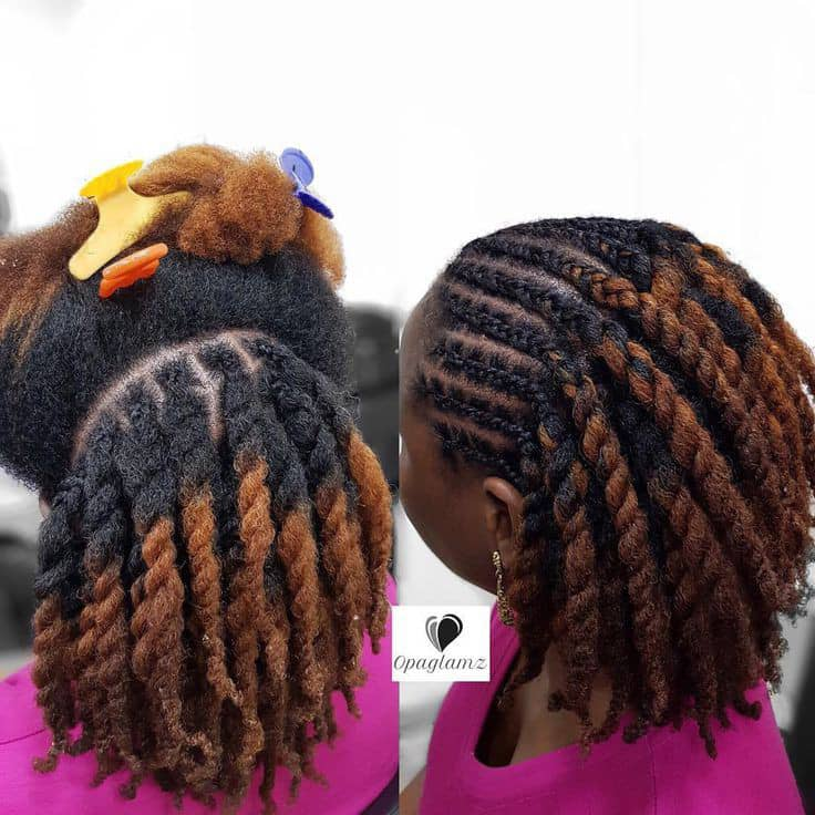 lady wearing protective hairstyle