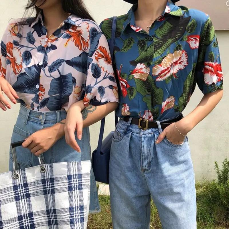 friends rocking vintage shirts