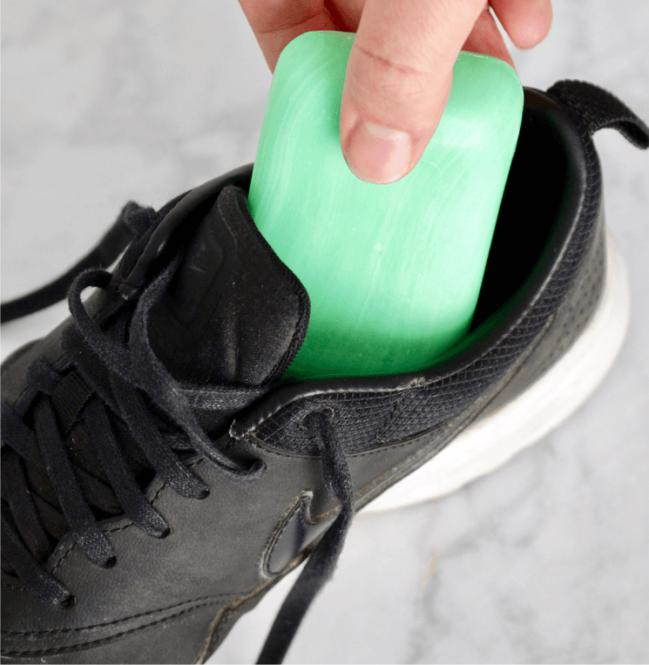 Solutions for Stinky Shoes - a bar of soap