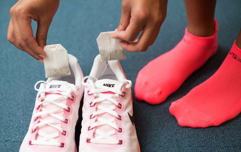 Solutions for Stinky Shoes - tea bags