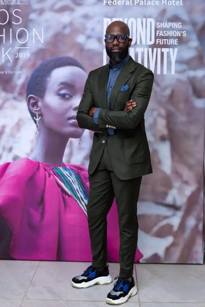 Mai Atafo at the Lagos Fashion Week launch party