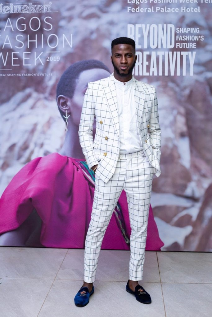 Akin Faminu at the Lagos Fashion Week launch party