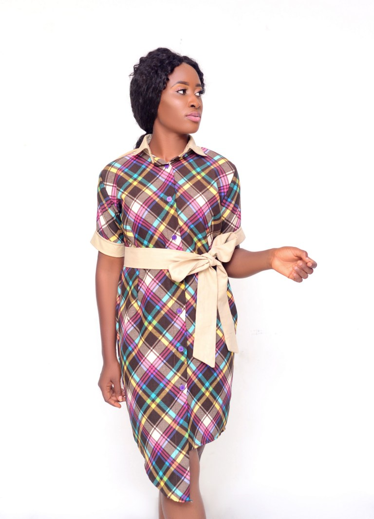 shirt dress with belt by Ria Kosher