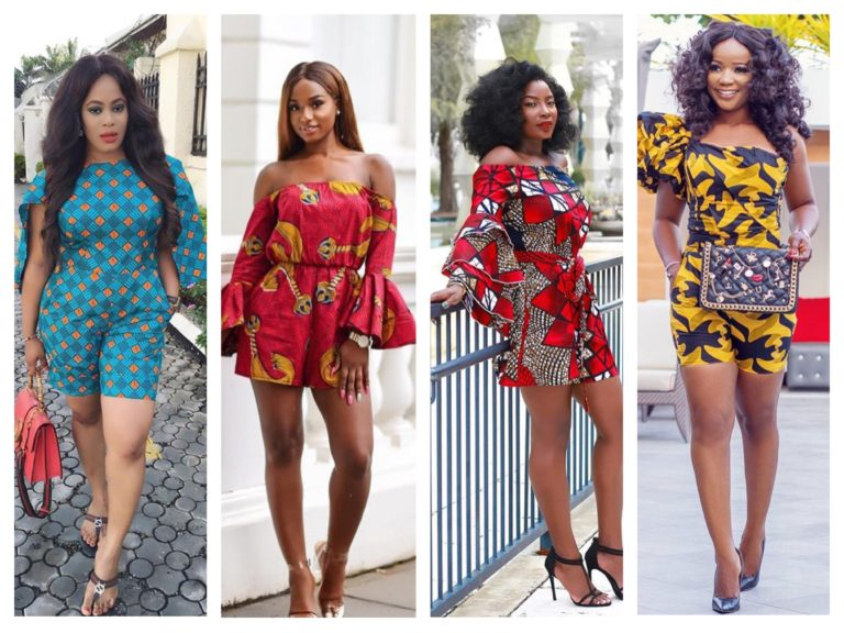 ankara playsuits 4 ladies