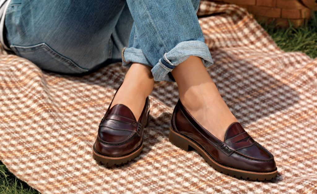 leather female loafers - Types of Shoes for Women