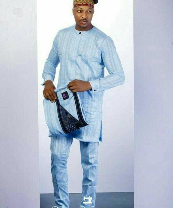 Skyblue atiku - Native Wears for Nigerian Men
