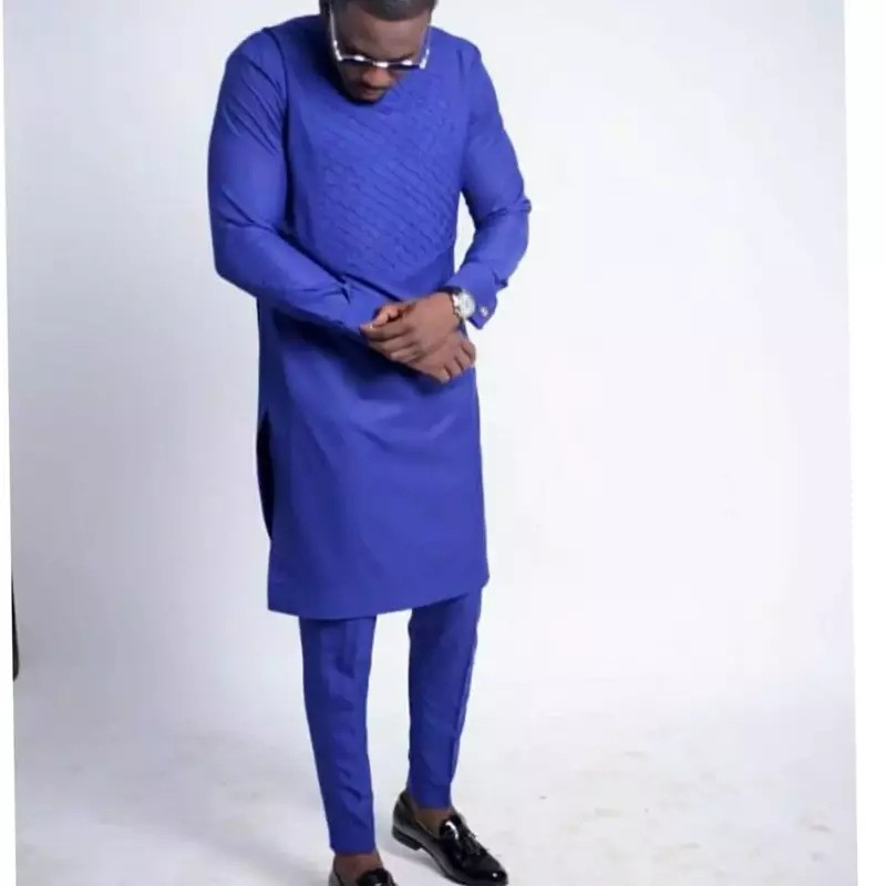 blue kaftan - Native Wears for Nigerian Men