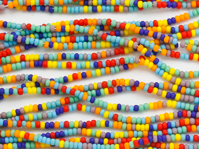 colorful seed beads - Nigerian Beads to Spice Up Your Native Wears
