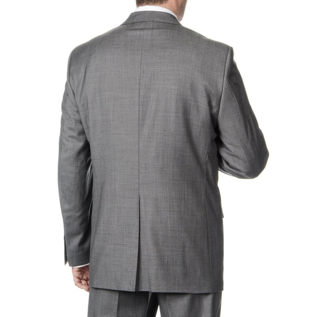 grey suit with a single vent
