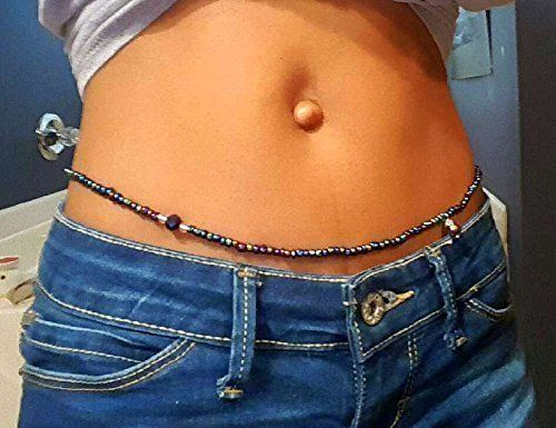 woman wearing waist beads