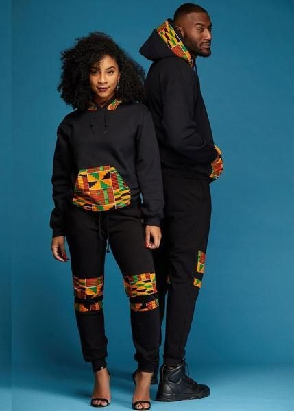a couple in Afro-urban outfit