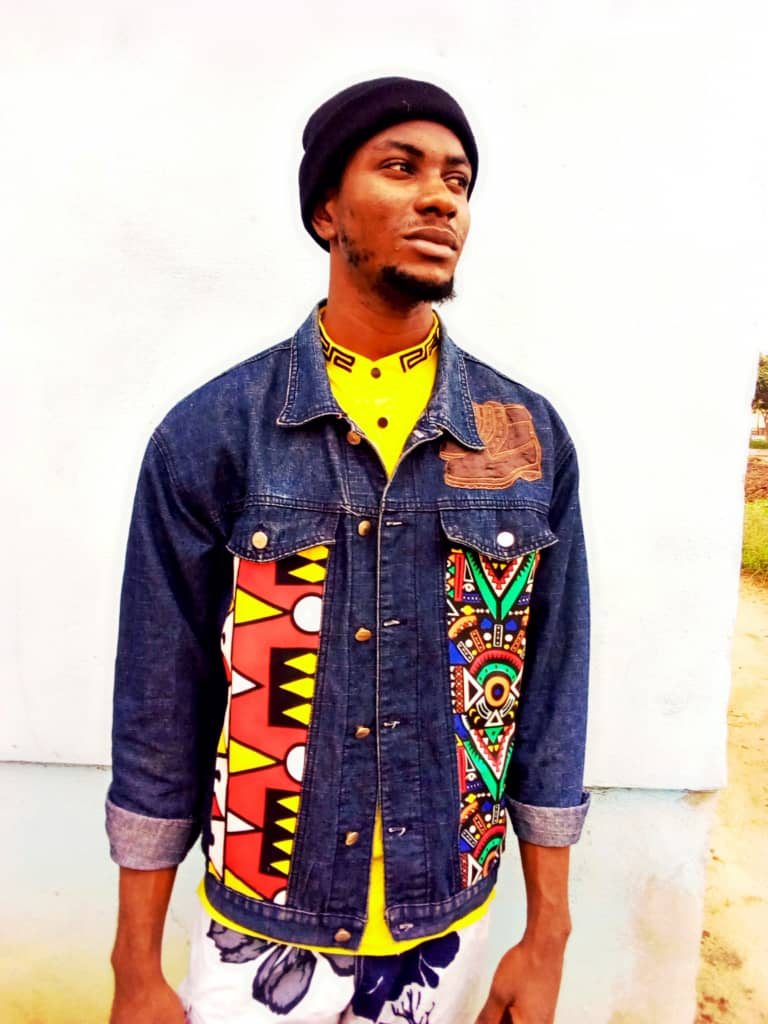 Afrocentric jean jacket by Anie Fash