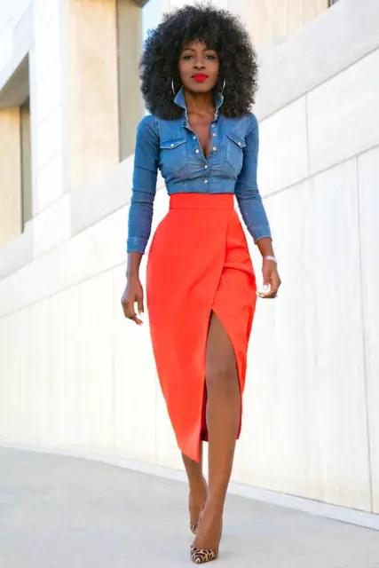 orange tulip skirt