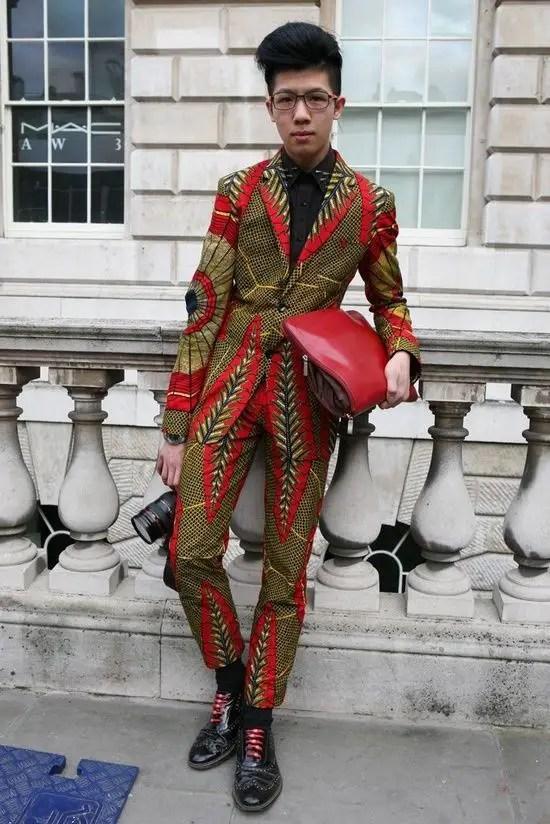 Asian man in ankara suit