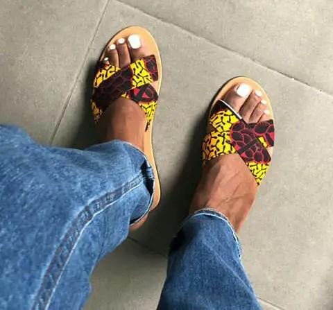 new ankara slippers