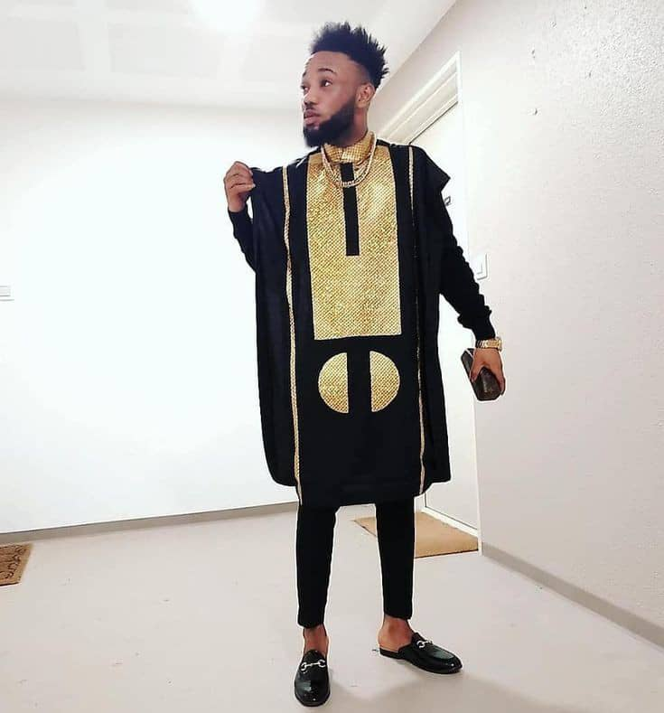 man rocking agbada