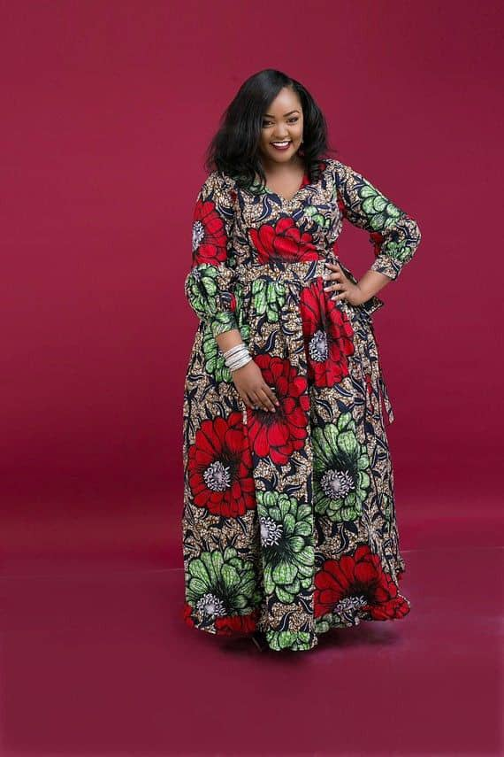 lady in ankara maxi dress