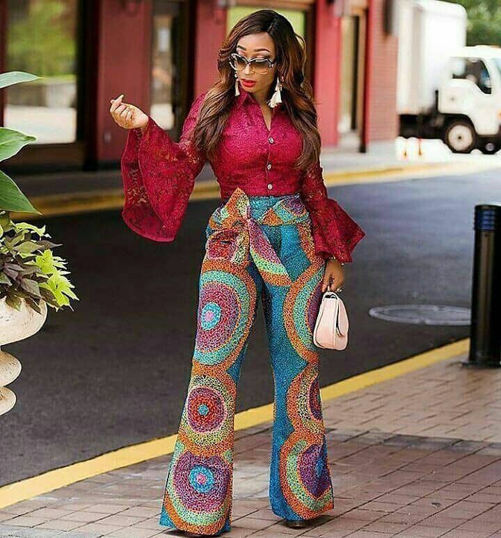 lady rocking ankara pants