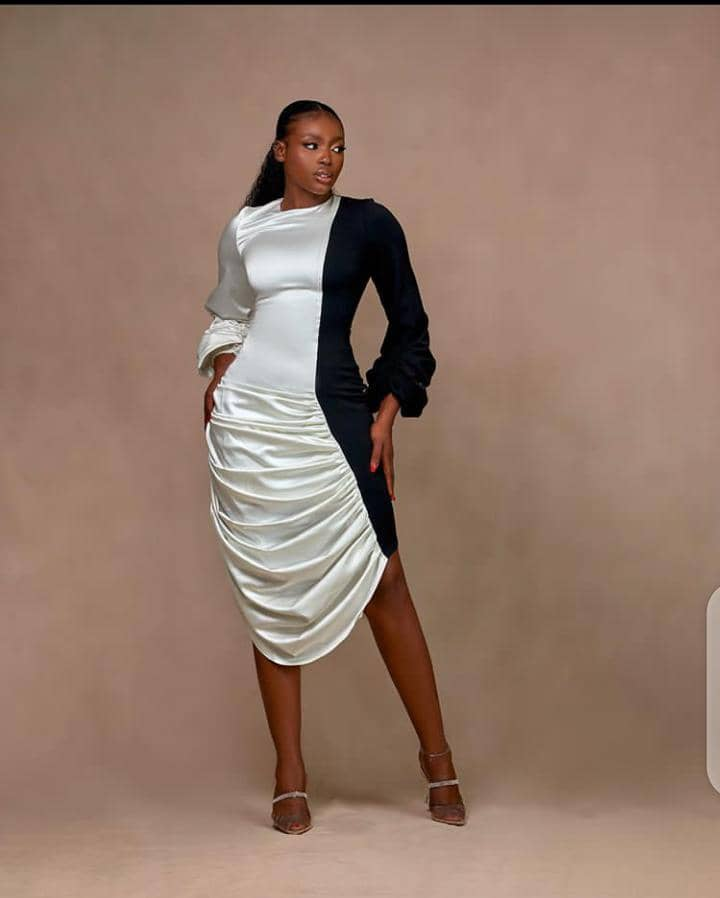 black and white dress by 2207bybally