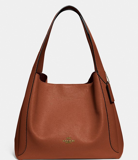 a brown hobo bag