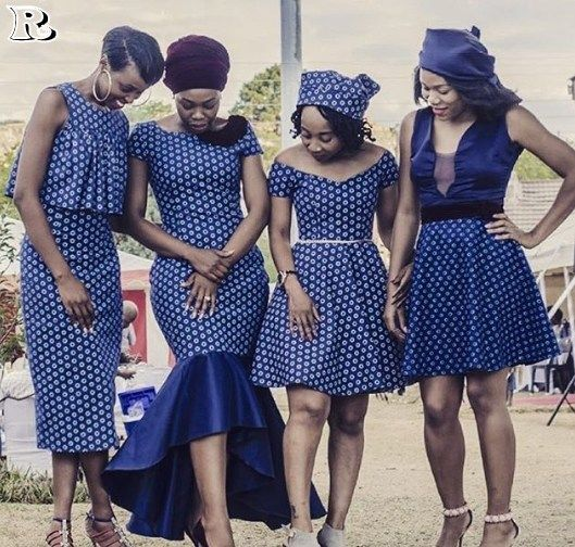 4 ladies rocking shweshwe dresses