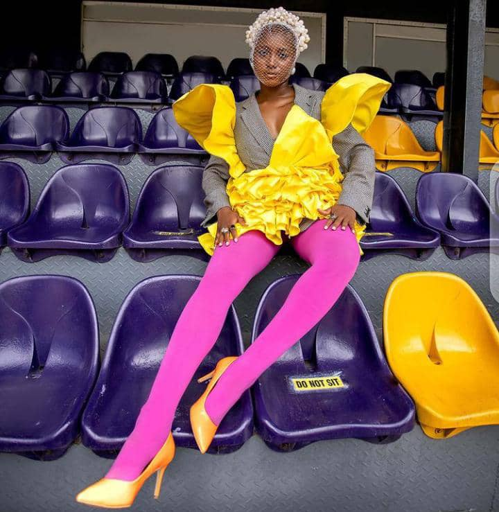 lady wearing bright colored outfit