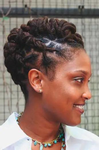 woman wearing dreadlocks hairstyle