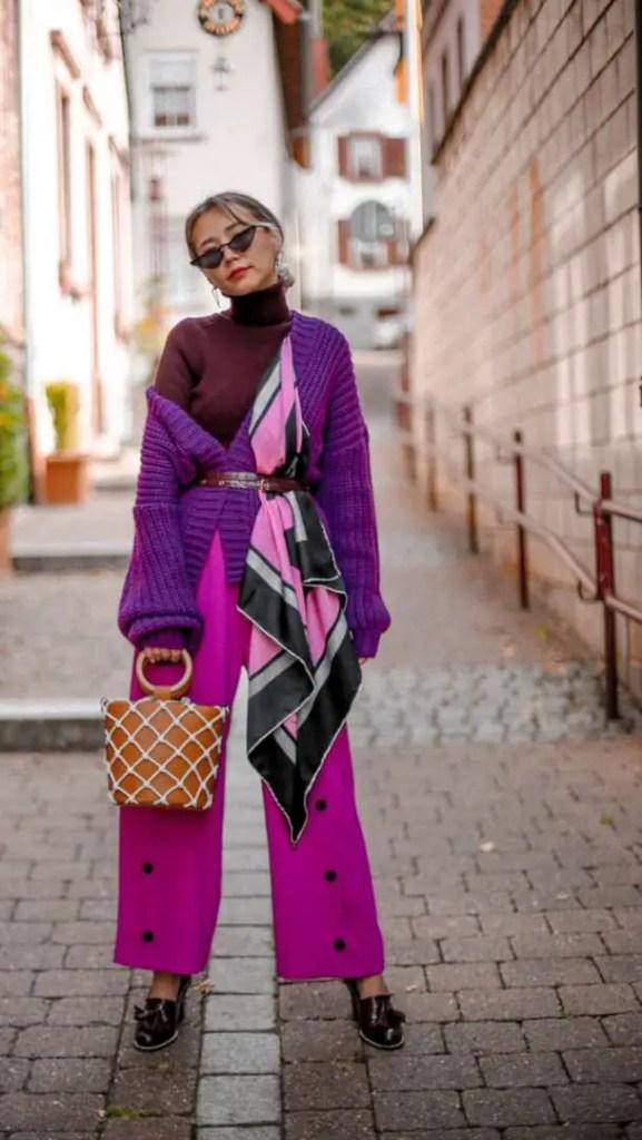 lady wearing statement clothing