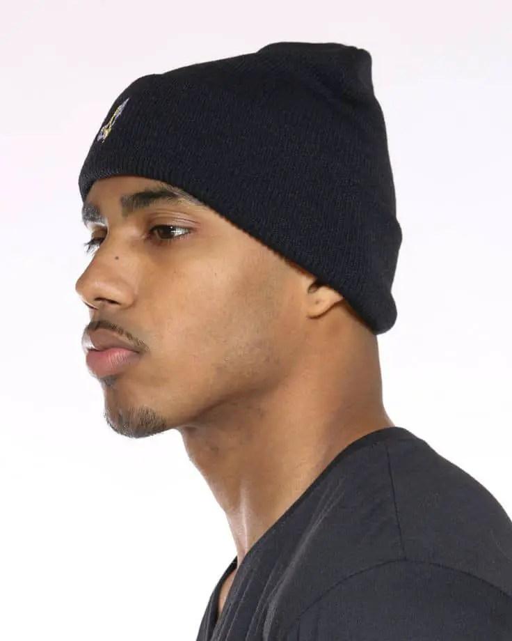 man wearing beanie hat