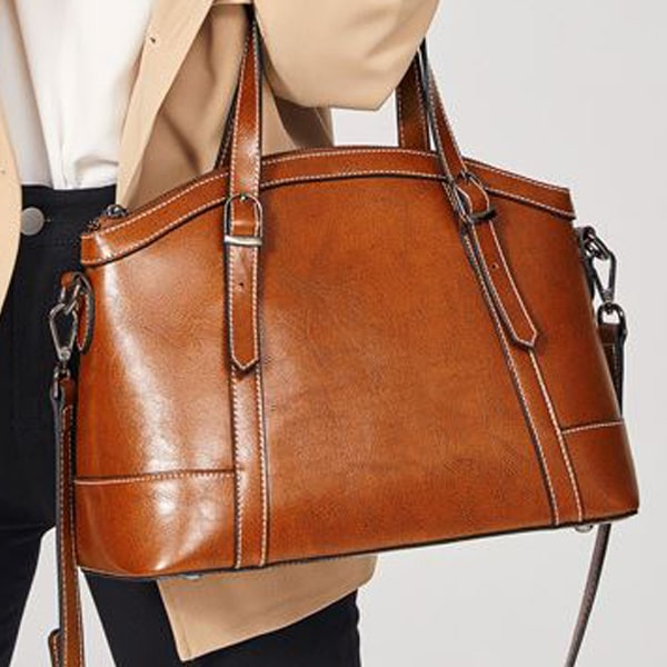 carrying leather bag
