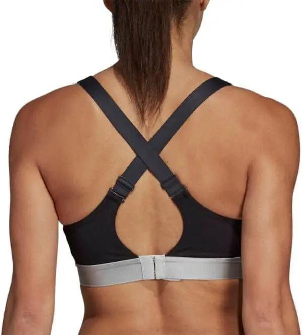 back of x sports bra