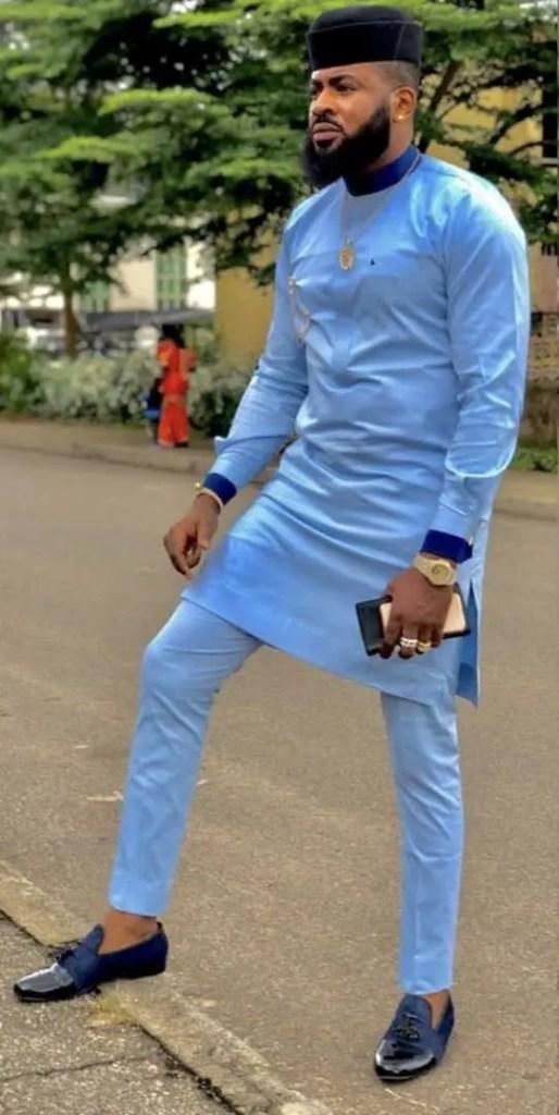 man wearing senator outfit to a wedding