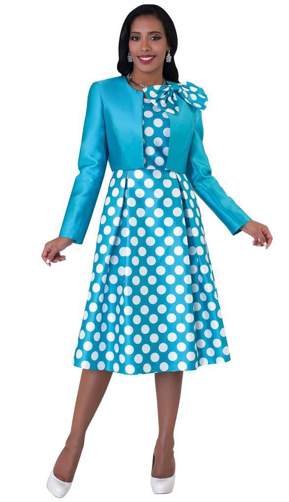 lady wearing polka dots dress
