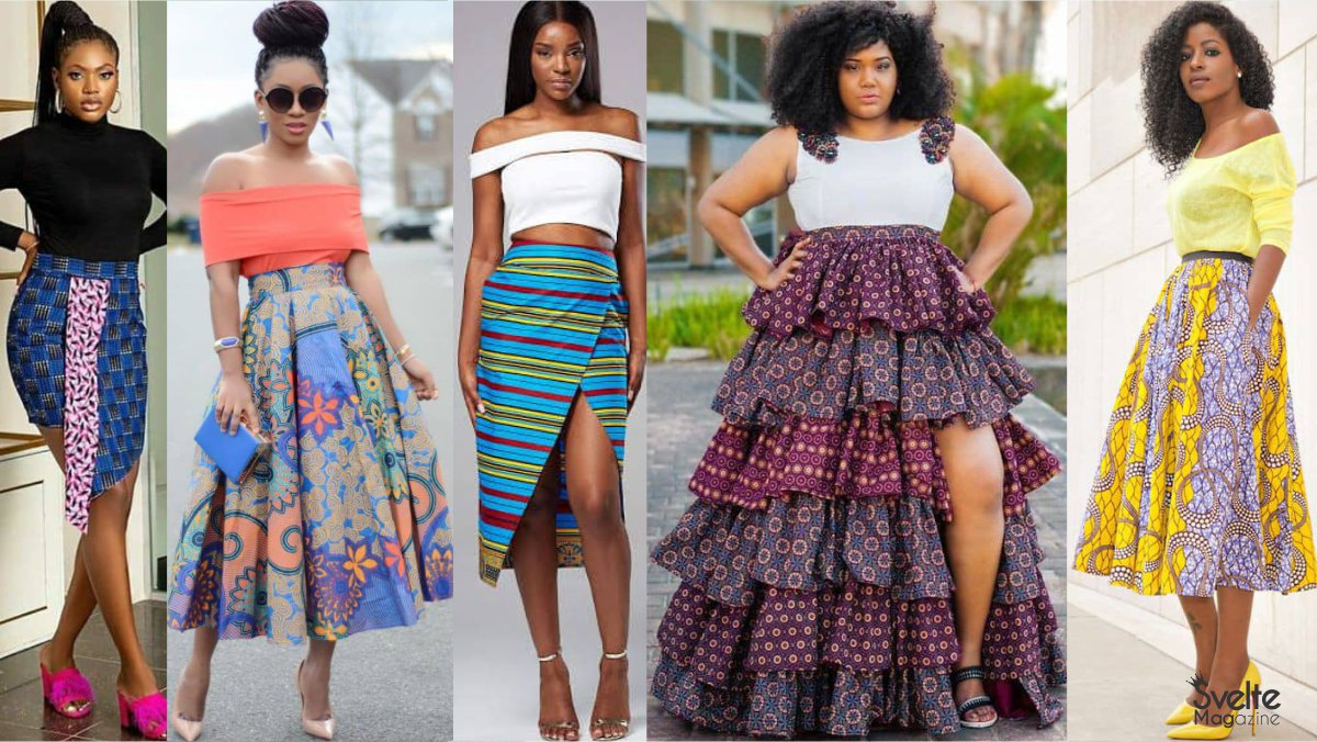 30 Latest Ankara Skirts for the Beautiful African Woman