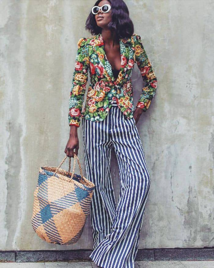 lady wearing loud prints with subtle patterns